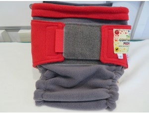 Reusable Waterproof Cover Small Child Grey/Red Waist 50cm-72cm