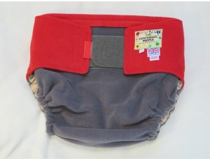 """Adult Reusable Waterproof Cover Grey/Red-Large Waist 40""""-54"""" Rise 40"""""""