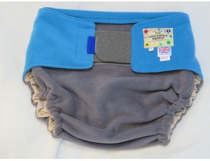 """Adult Reusable Waterproof Cover Grey/Blue - Large Waist 40""""-54"""" Rise 40"""""""