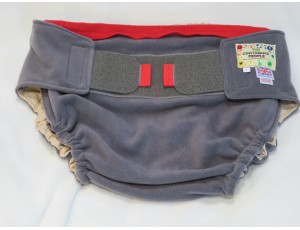 """Adult Reusable Waterproof Cover Grey with Grey Tabs - Large Waist 40""""-54"""" Rise 40"""""""