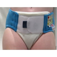 """Reusable Waterproof Cover Adult Sml /Lge Child Cream/Blue Waist 28""""-36"""" Rise 30"""""""