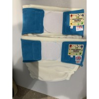 """Reusable waterproof Cover Adult Sml / Lge Child Cream/Blue waist 28""""-36"""" Rise 30"""""""