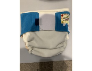 """Reusable Waterproof Cover Adult Sml/Lge Child Cream/Blue - Waist 28""""-36"""" Rise 30"""""""
