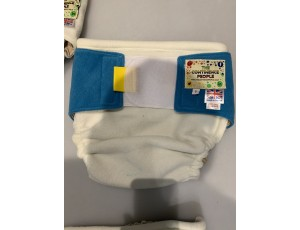 """Reusable Waterproof Cover Adult Sml/Lge Child Cream/Blue Waist 28""""-36"""" Rise 30"""""""